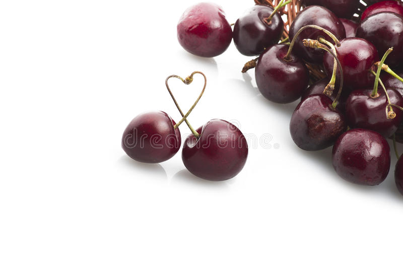 Fresh cherry royalty free stock photography
