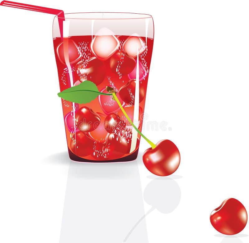 Fresh Cherry Juice Royalty Free Stock Photo