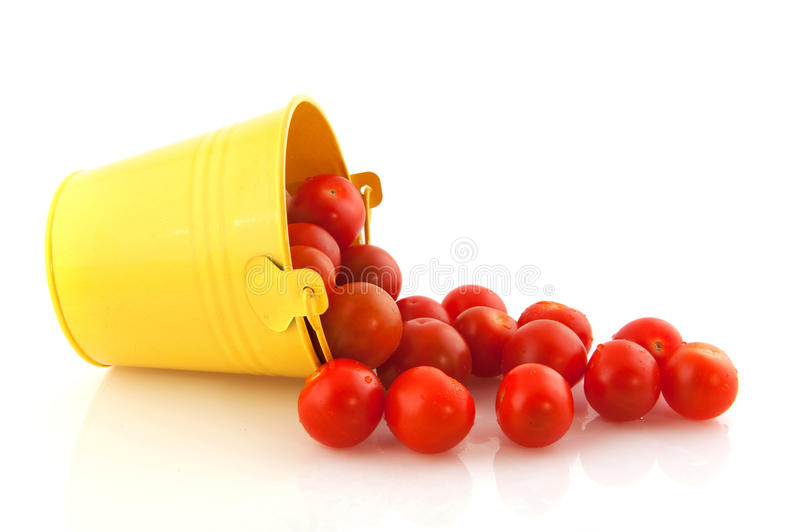 Download Fresh cherry tomatoes stock image. Image of isolated - 14448069