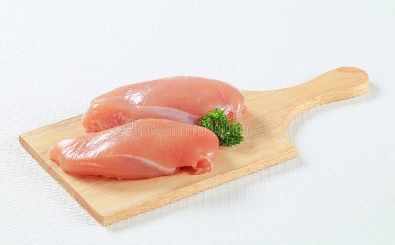 Fresh chicken breast fillets stock photo