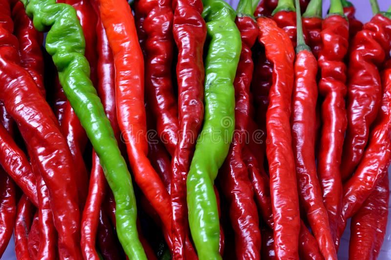 Download Fresh Chili In Red And Green Stock Photo - Image: 36350368