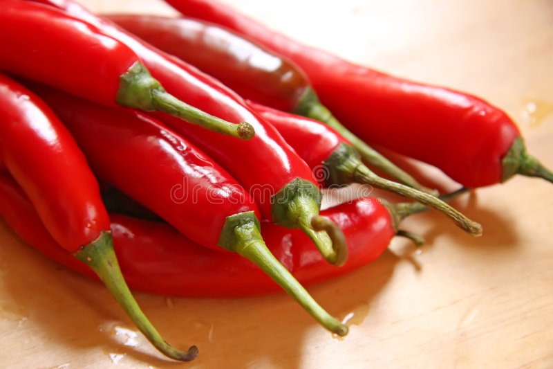 Fresh chillis stock photo
