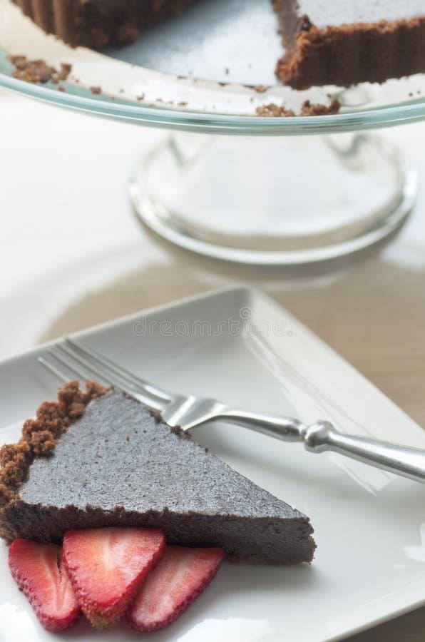 Download Fresh Chocolate Tart stock photo. Image of crust, serving - 24283712