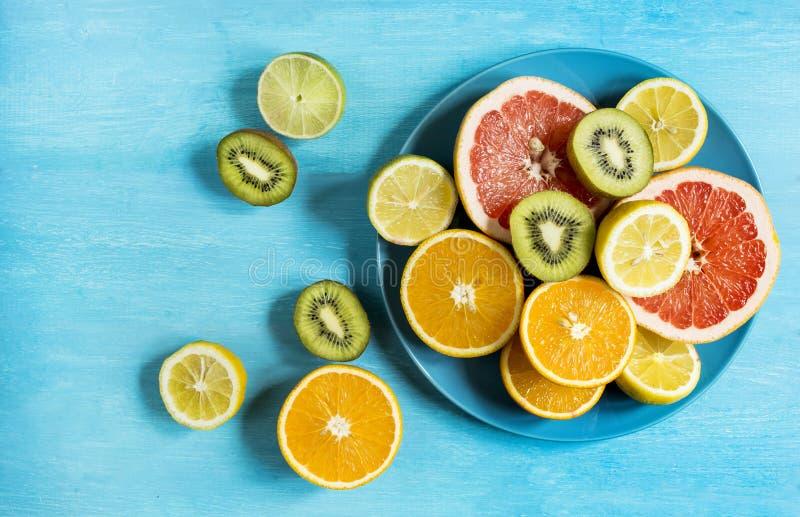 Fresh citrus mood stock image