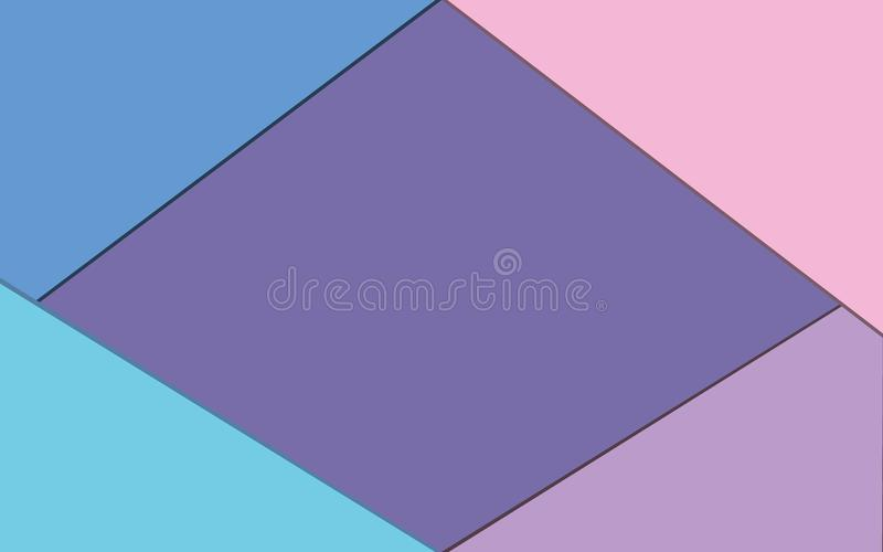 Fresh and clean background. With 4 overlay color and one background color royalty free illustration