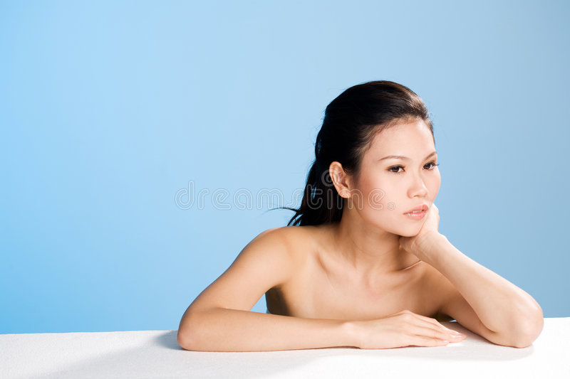 Fresh Clean Face Of Young Woman Royalty Free Stock Images