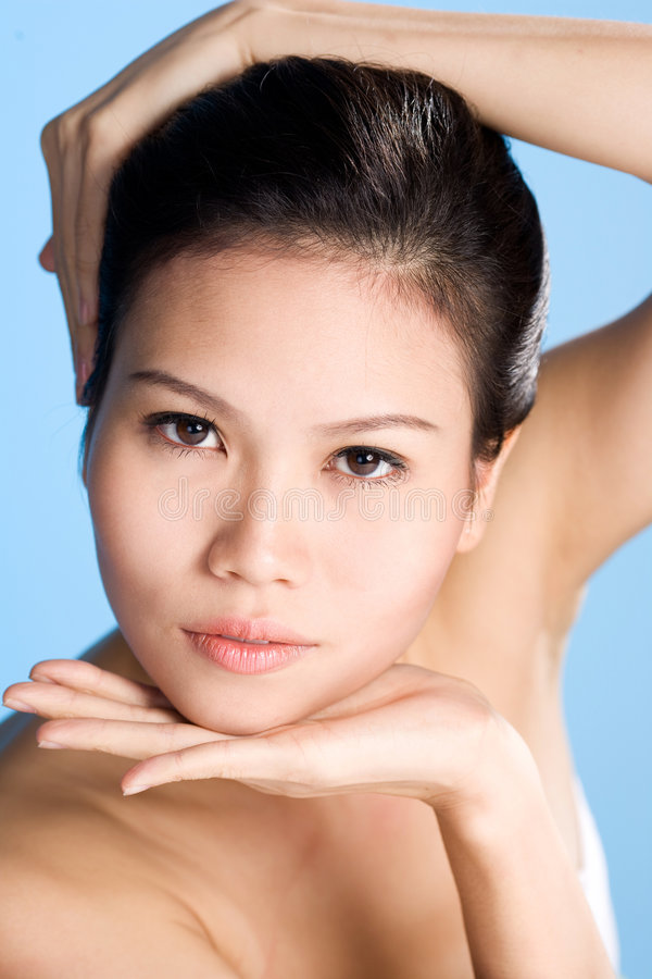 Download Fresh Clean Face Of Young Woman Stock Photo - Image: 5602492