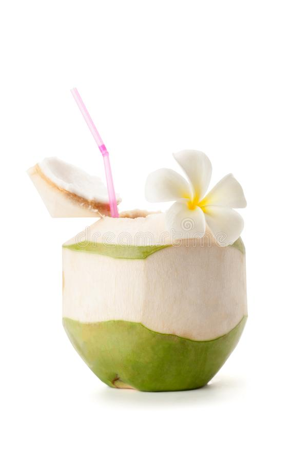 Fresh coconut water stock photos