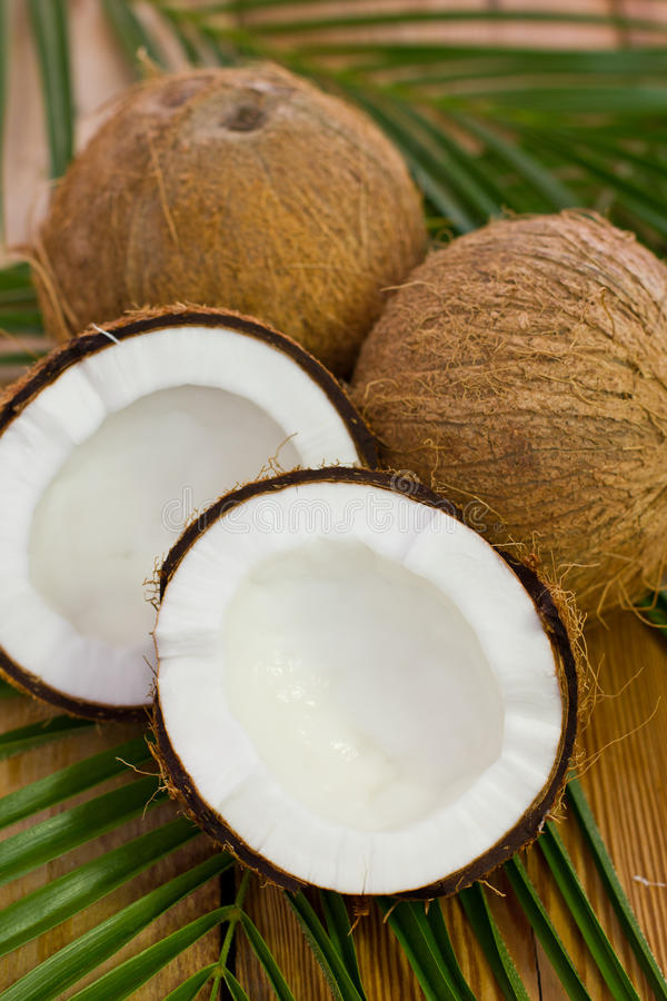Download Fresh Coconuts On The Table Stock Image - Image: 39565395