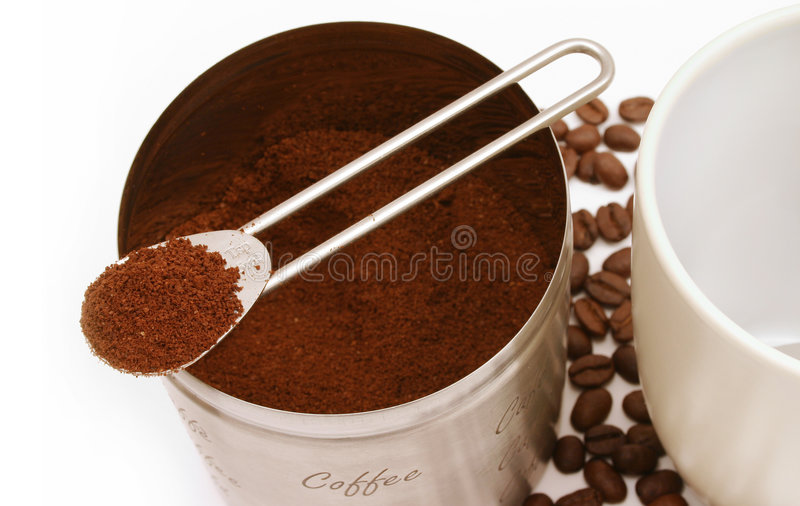 Download Fresh coffee stock photo. Image of drink, addict, brown - 235106