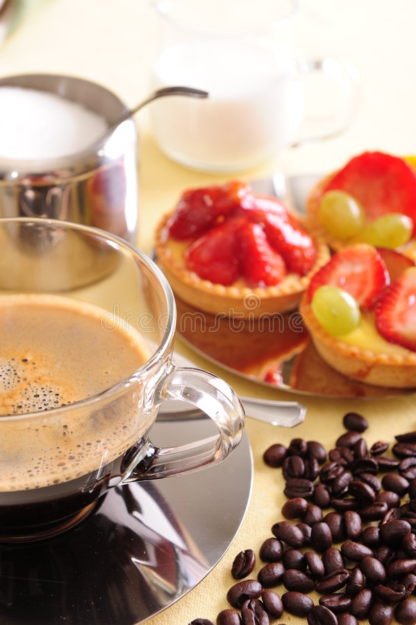 Download Fresh Coffee And Cake Stock Images - Image: 5262634