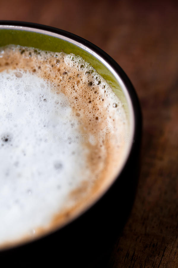 Fresh coffee in a cup stock images