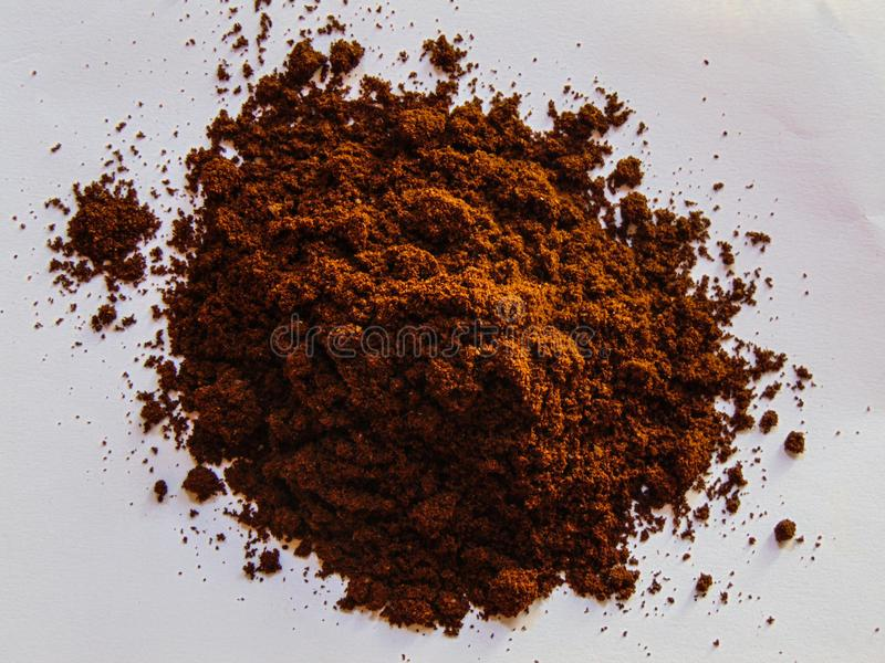 Fresh Coffee Powder royalty free stock photo