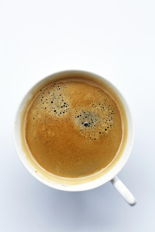 Fresh coffee in white cup royalty free stock images