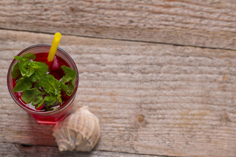 Fresh cold drink with mint stock photos