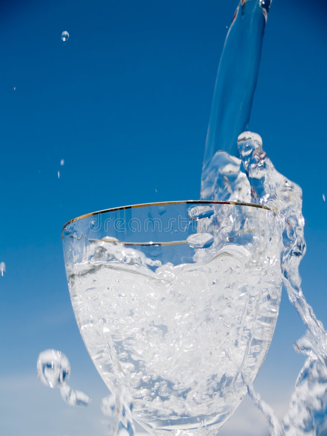 Fresh cold water stock image
