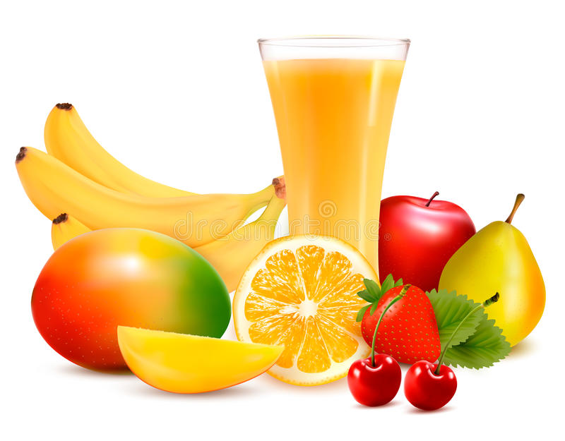 Download Fresh Color Fruit And Juice. Vector Stock Vector - Image: 28880691