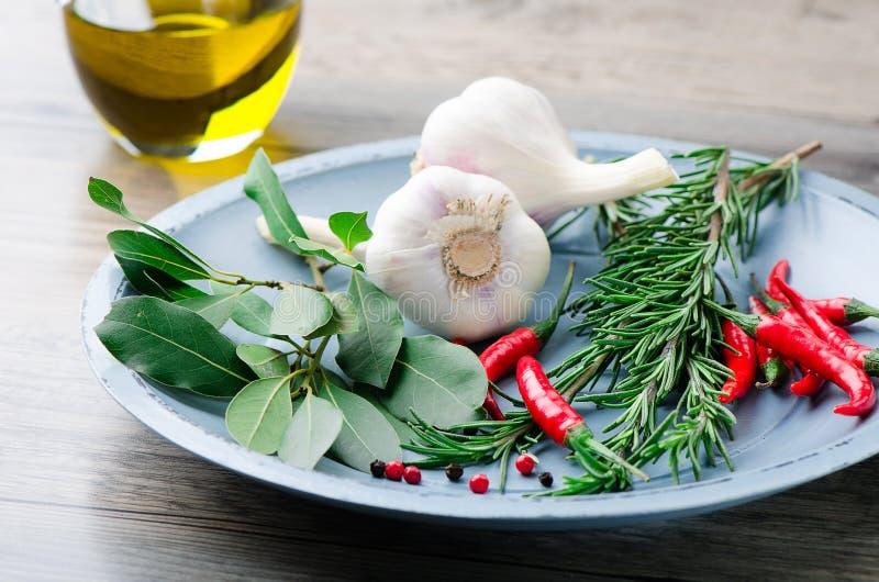 Fresh cooking ingredients stock photos