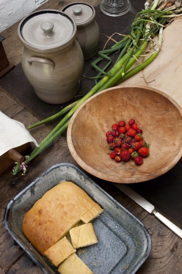 Fresh Country Home Cooking, Homemade On The Farm Royalty Free Stock Photo