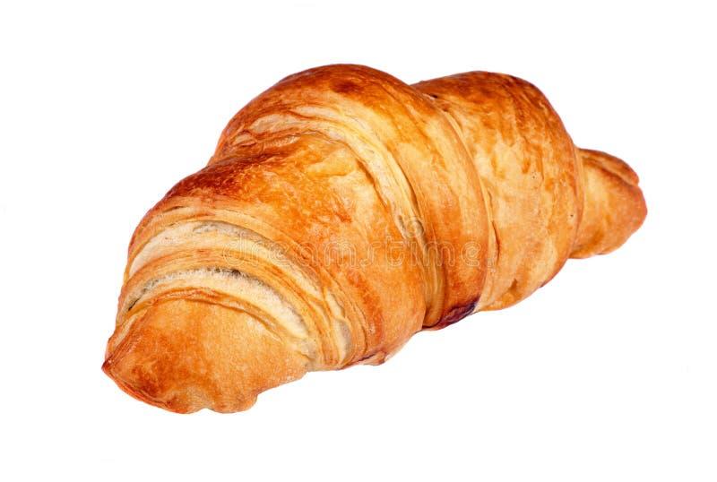 Fresh croissant isolated. On white stock image