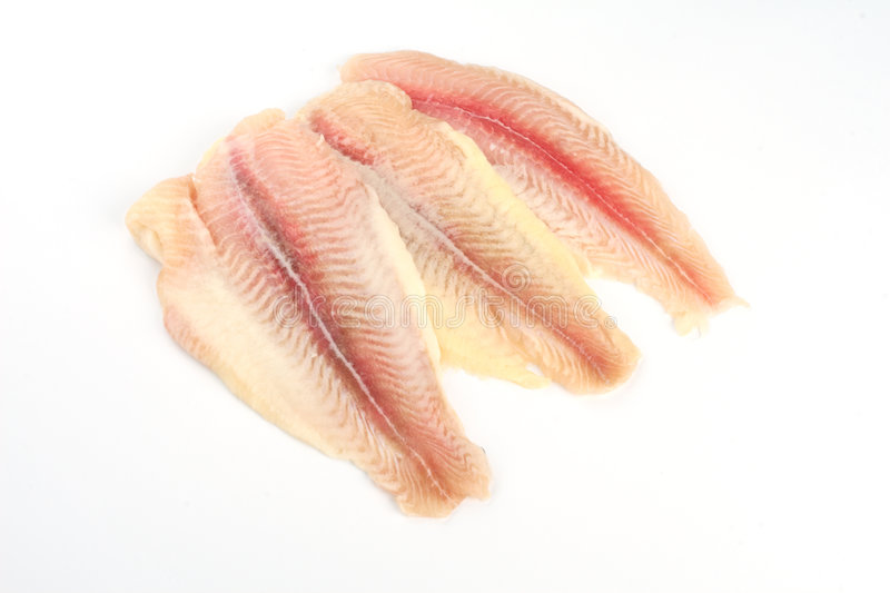 Fresh crude fish fillet royalty free stock photo