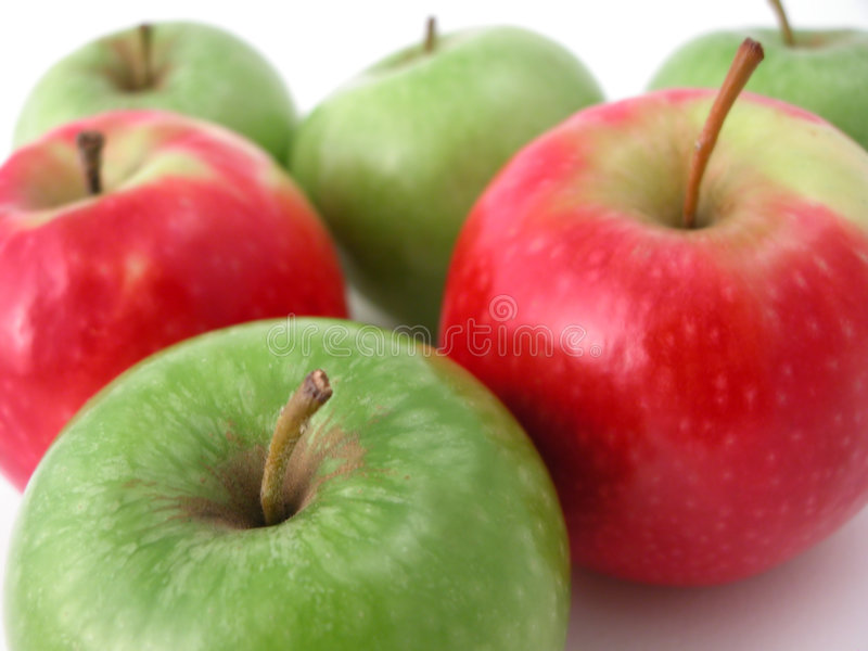 Fresh crunchy apples royalty free stock photo