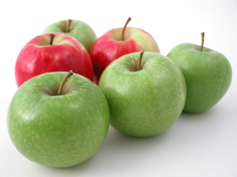 Fresh crunchy apples royalty free stock photos