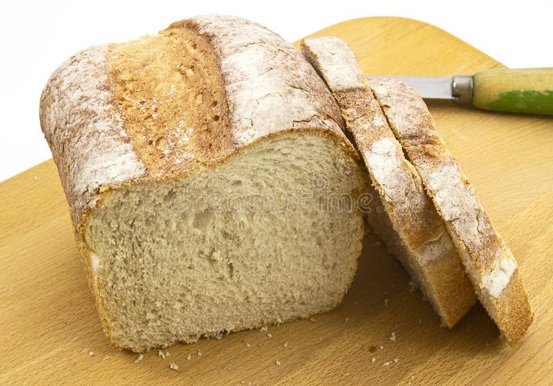 Download Fresh Crusty Farmhouse Bread On Board Stock Photo - Image: 24157598
