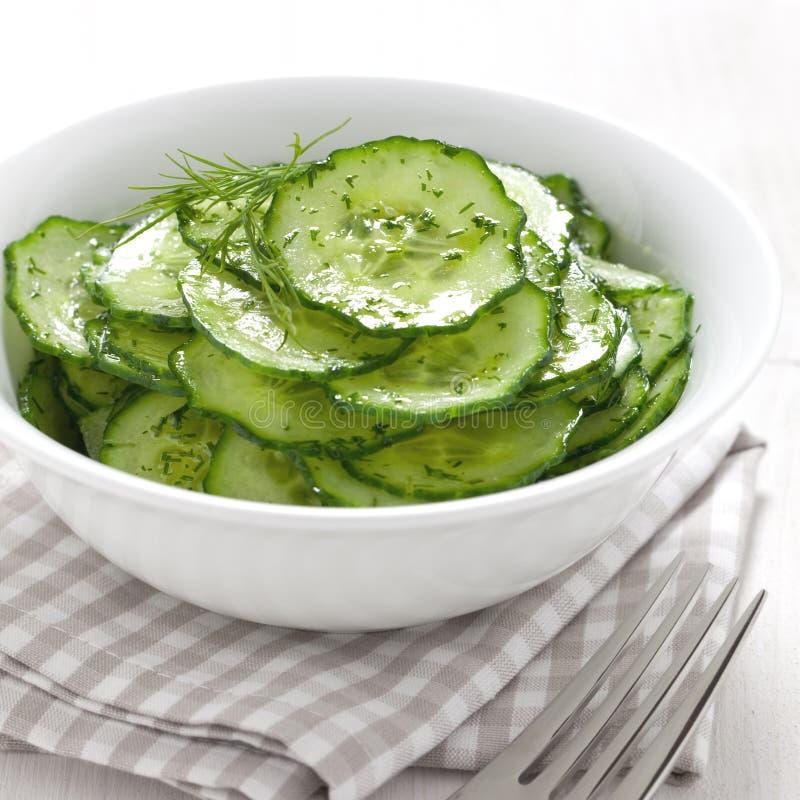 Fresh cucumber salad stock photography