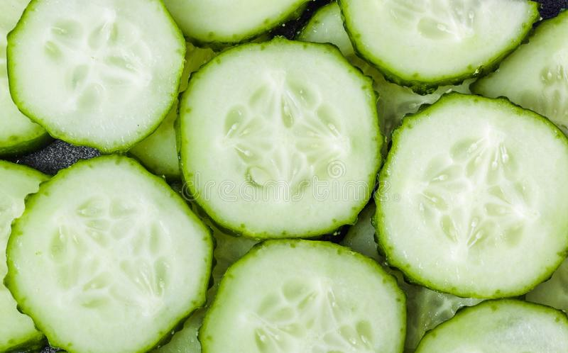 Fresh cucumbers background. Fresh cucumbers - green food background stock images