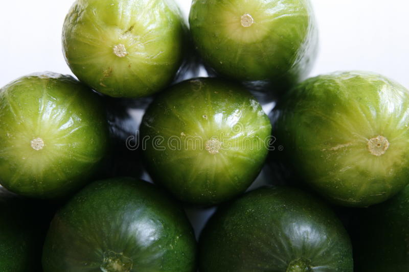 Fresh cucumbers in a pile stock photo