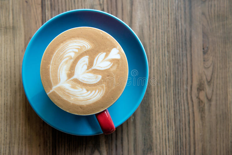 Download Fresh cup of coffee stock image. Image of leaf, latte - 83702587