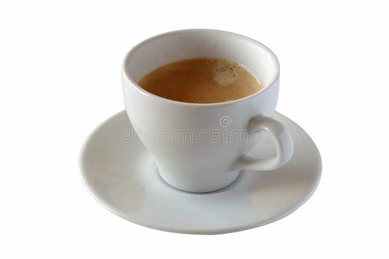 Download Fresh Cup Of Coffee With Clipping Path Stock Image - Image: 4371643