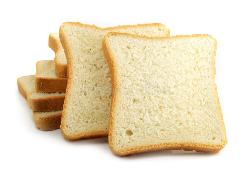 Fresh Cut Bread On White Background Stock Image Image Of