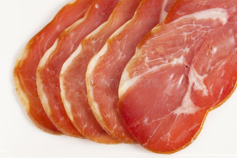 Fresh Cut Of Ham Stock Image