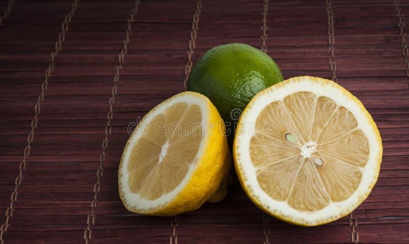 Fresh cut lemon and lime royalty free stock image
