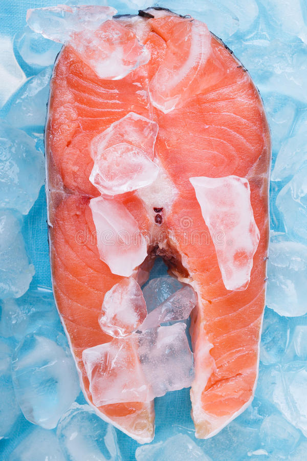 Download Fresh cut Salmon steaks stock image. Image of close, prepared - 37575457