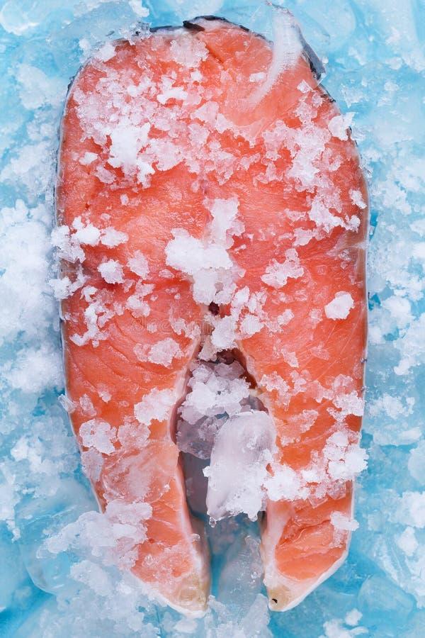 Fresh Cut Salmon Steaks Royalty Free Stock Photography