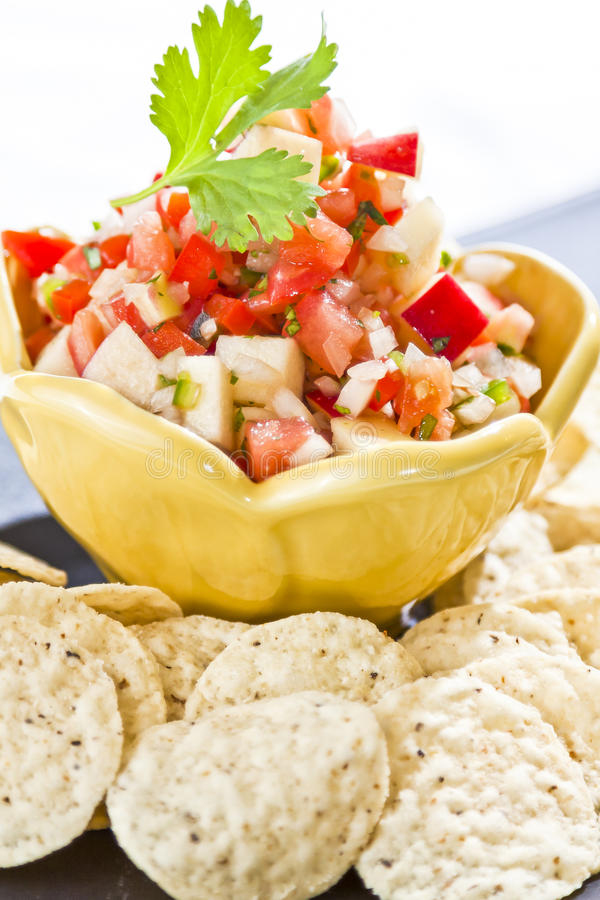 Fresh Cut Salsa stock image