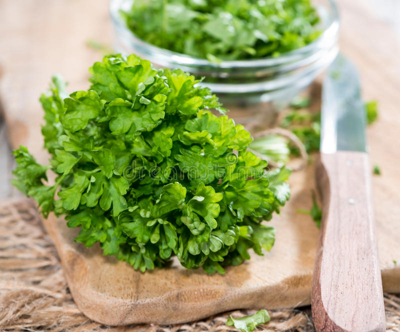 Fresh cutted Parsley royalty free stock image