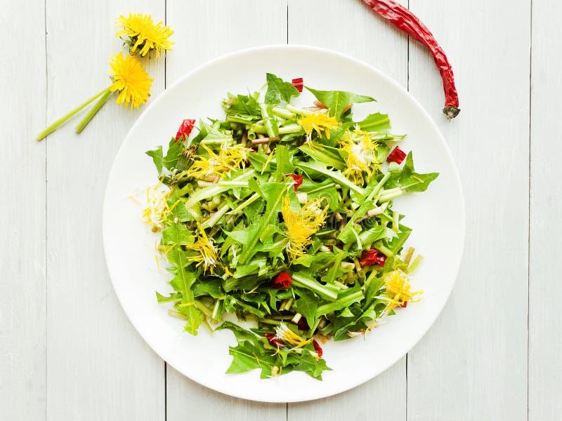 Fresh Dandelion salad royalty free stock photography