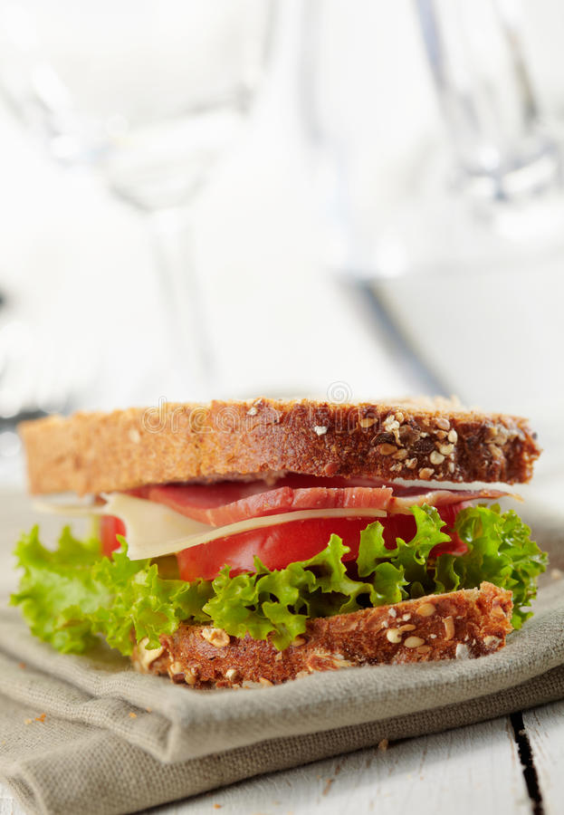 Download Fresh deli sandwich stock image. Image of bread, leaf - 27527307