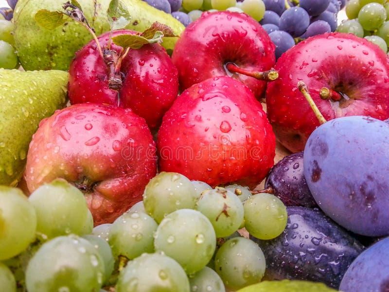 Fresh delicious bio fruits from romania stock photo