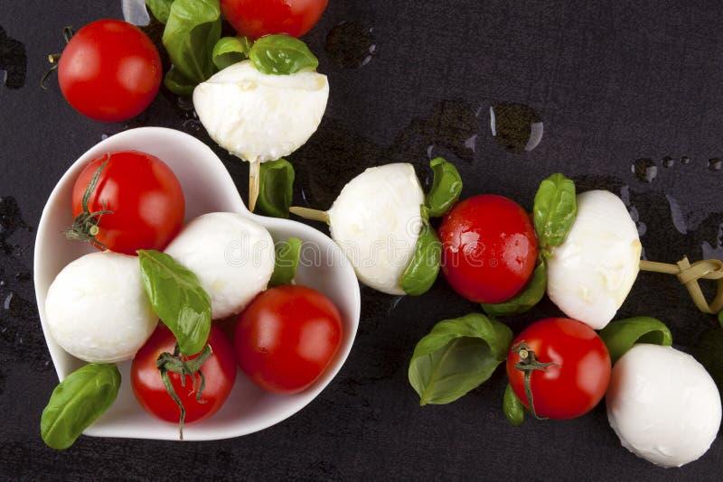 Fresh delicious caprese. stock photo