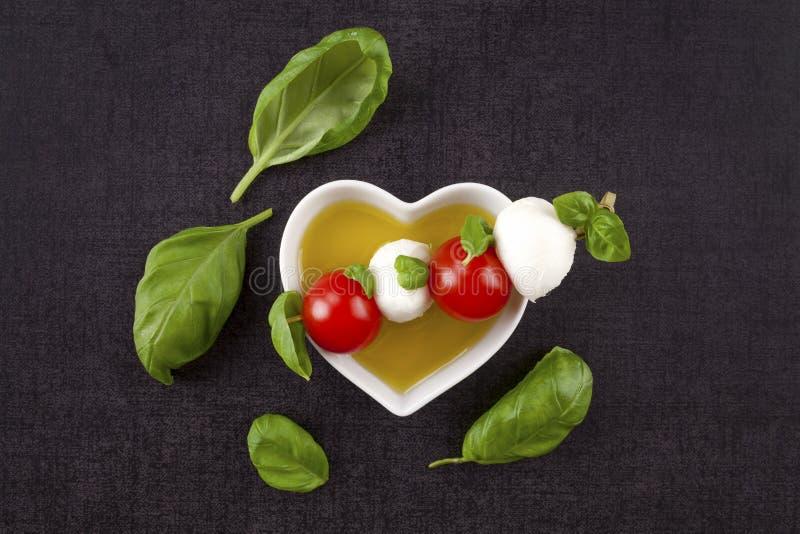 Fresh delicious caprese. royalty free stock photos