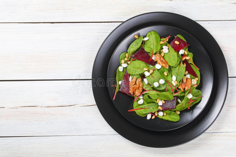 Fresh delicious healthy beetroot cottage salad stock photography