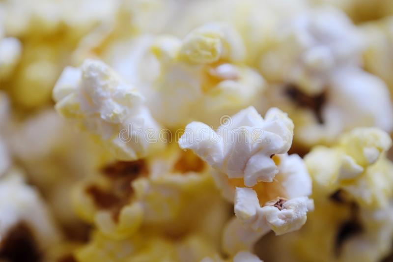 Fresh delicious popcorn with cheese close up royalty free stock photos
