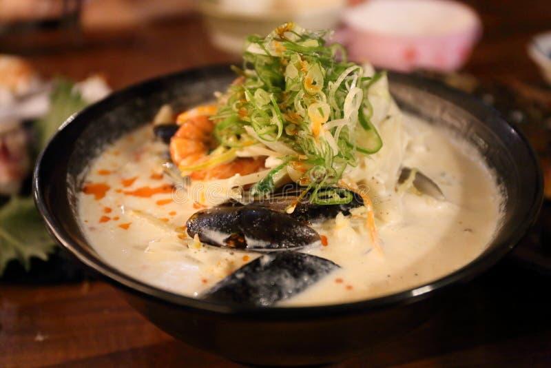Fresh Delicious Susimi scallop, salmon, fish in Fish Market Jeju, Korea. Delicious Susimi scallop, salmon, fish, photo taken in July in fish market in Jeju stock photography