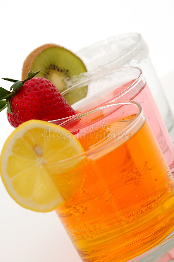 Fresh drink. Fresh summer drink with fruits stock images