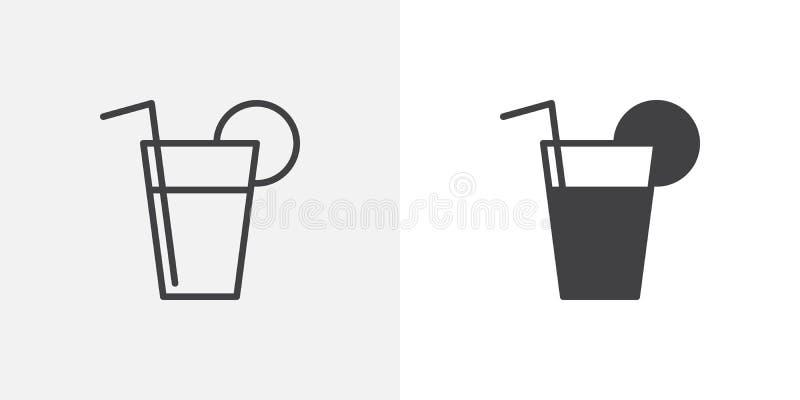 Fresh drink glass icon royalty free illustration
